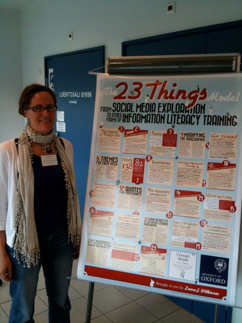 @laurajwilkinson and 23 Things Oxford poster